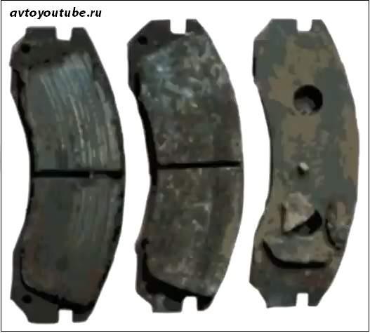 Скрип тормозов из-за износа тормозных колодок