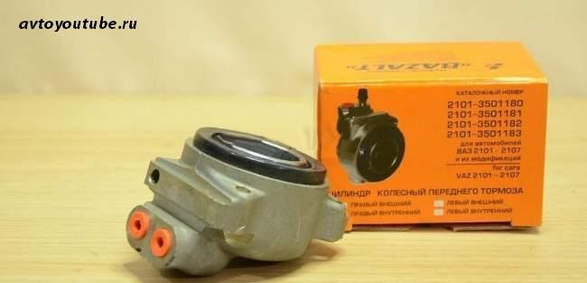Как заменить передний тормозной цилиндр ВАЗ 2107