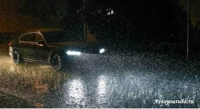 Советы вождения дождливой ночью