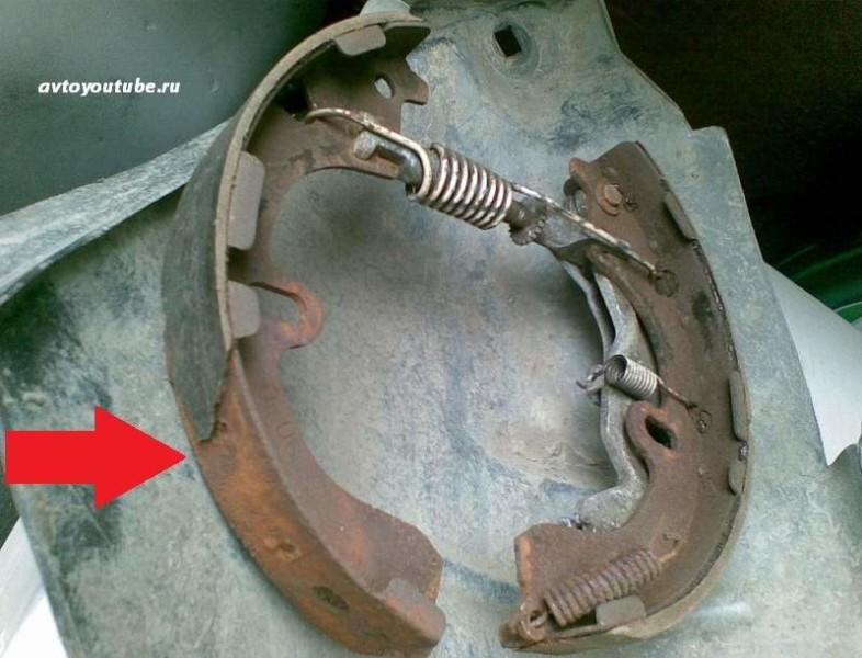 Минимальная толщина фрикционной накладки – причина замены задних тормозных колодок ВАЗ