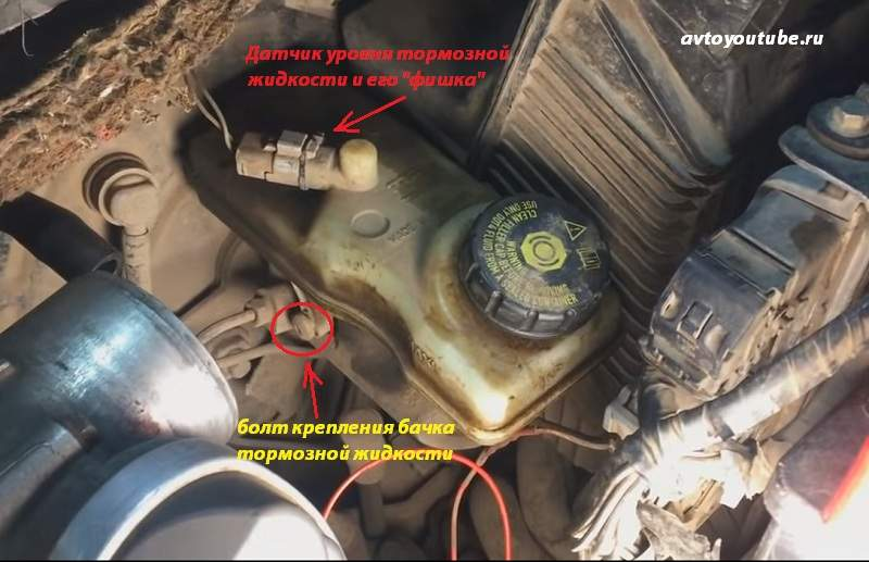 как снять бачок тормозной жидкости для помывки в Рено Меган 2
