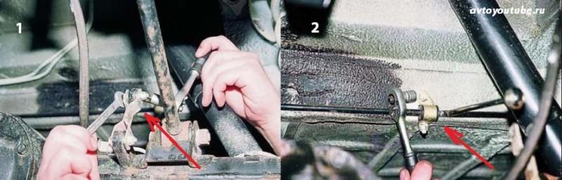Снятие колдуна с автомобиля ВАЗ 2107 первый этап