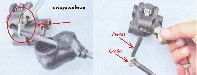 Снимаем рычаг от регулятора тормозов ВАЗ 2107