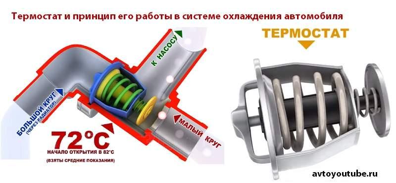 Назначение термостата в системе охлаждения двигателя