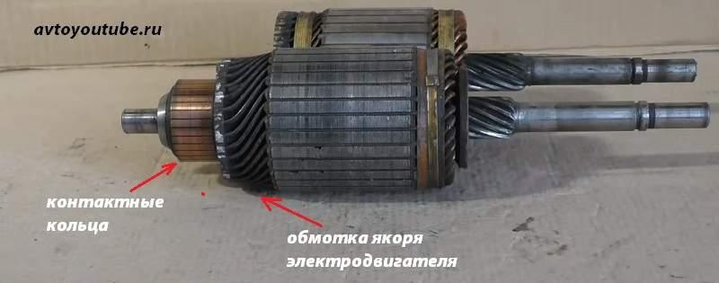 Якорь электродвигателя стартера