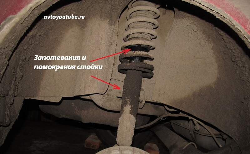 Запотевание передней стойки амортизатора - неисправности ходовой автомобиля