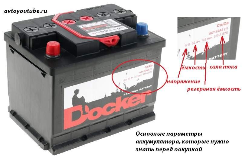 Основные параметры автомобильного аккумулятора, которые нужно знать перед его выбором