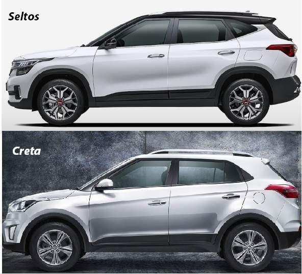 Дизайн задних фонарей Seltos в профиль перекликается с внешним видом Hyundai Creta