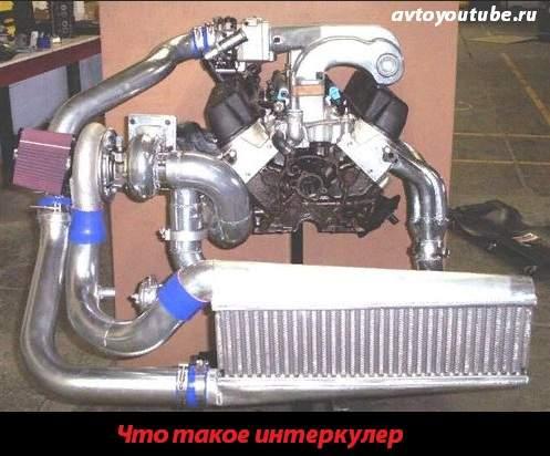Интеркулер - большой радиатор для охлаждения сжатого турбиной воздуха