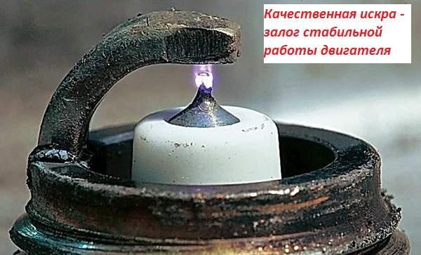 Какая должна быть искра между электродами на свече зажигания машины