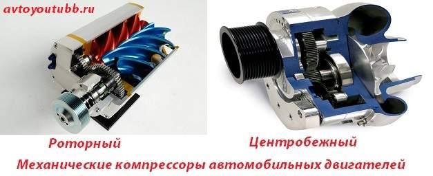 Какие бывают механические компрессоры двигателей автомобиля