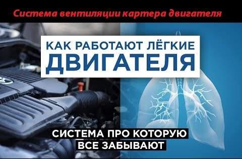 Вентиляция картера двигателя – подробное описание системы