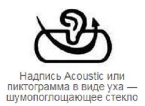 Что обозначает изображение ухо в маркировке автостекла