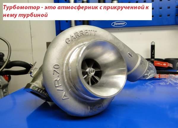 Турбомотор – это атмосферник с прикрученной к нему турбиной